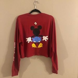 Disney Tops - Disney long sleeve cropped t-shirt Minnie Mouse